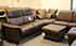 Paradise Royalin Dark Brown Leather Sectional Sofa