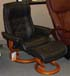 Stressless Royal Paloma Black Leather Recliner Chair and Ottoman