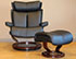 Stressless Magic Recliner Chair and Ottoman by Ekornes