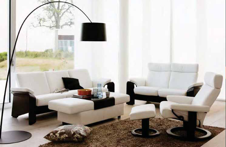 stressless batick snow white 09311 leather by ekornes stressless batick snow white 09311. Black Bedroom Furniture Sets. Home Design Ideas