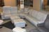 Paradise Paloma Pearl Grey Leather Stressless Sectional Sofa