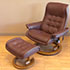 Stressless Royal Paloma Coffee Leather Recliner Chair and Ottoman