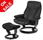 Stressless Senator and Governor Recliner Chairs and Ottoman