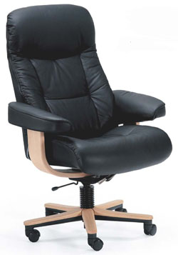 Fjords 215 Muldal Soho Ergonomic Leather Office Chair