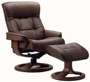 Fjords Bergen Ergonomic Recliner Chair and Ottoman Scandinavian Lounger : recliner lounge chair - islam-shia.org