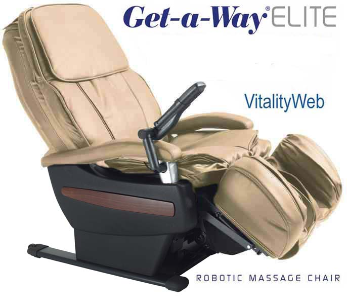Amazing GET A WAY RMS 10 Elite Robotic Home Massage Chair By Interactive Health    Zero Gravity Ultimate Relaxation Of Massage