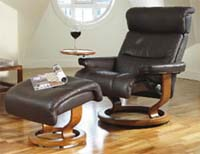 Stressless Memphis and Savannah Recliner Chair and Ottoman