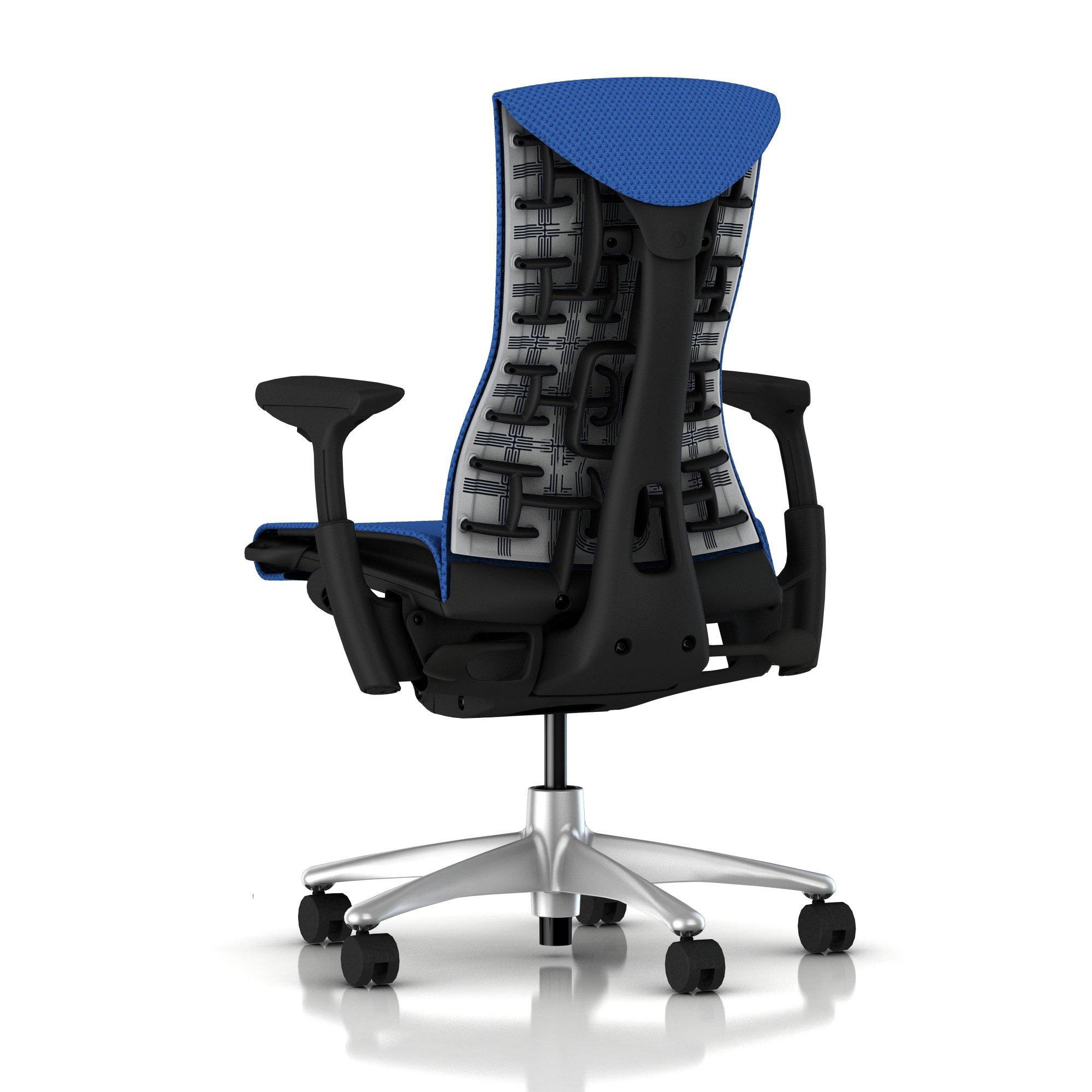 herman miller embody chair berry blue balance with graphite frame