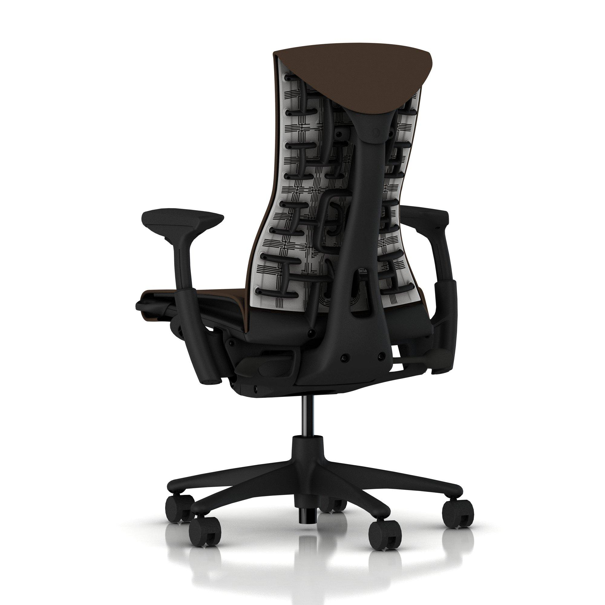 Herman Miller Embody Chair Mink Rhythm with Graphite Frame and