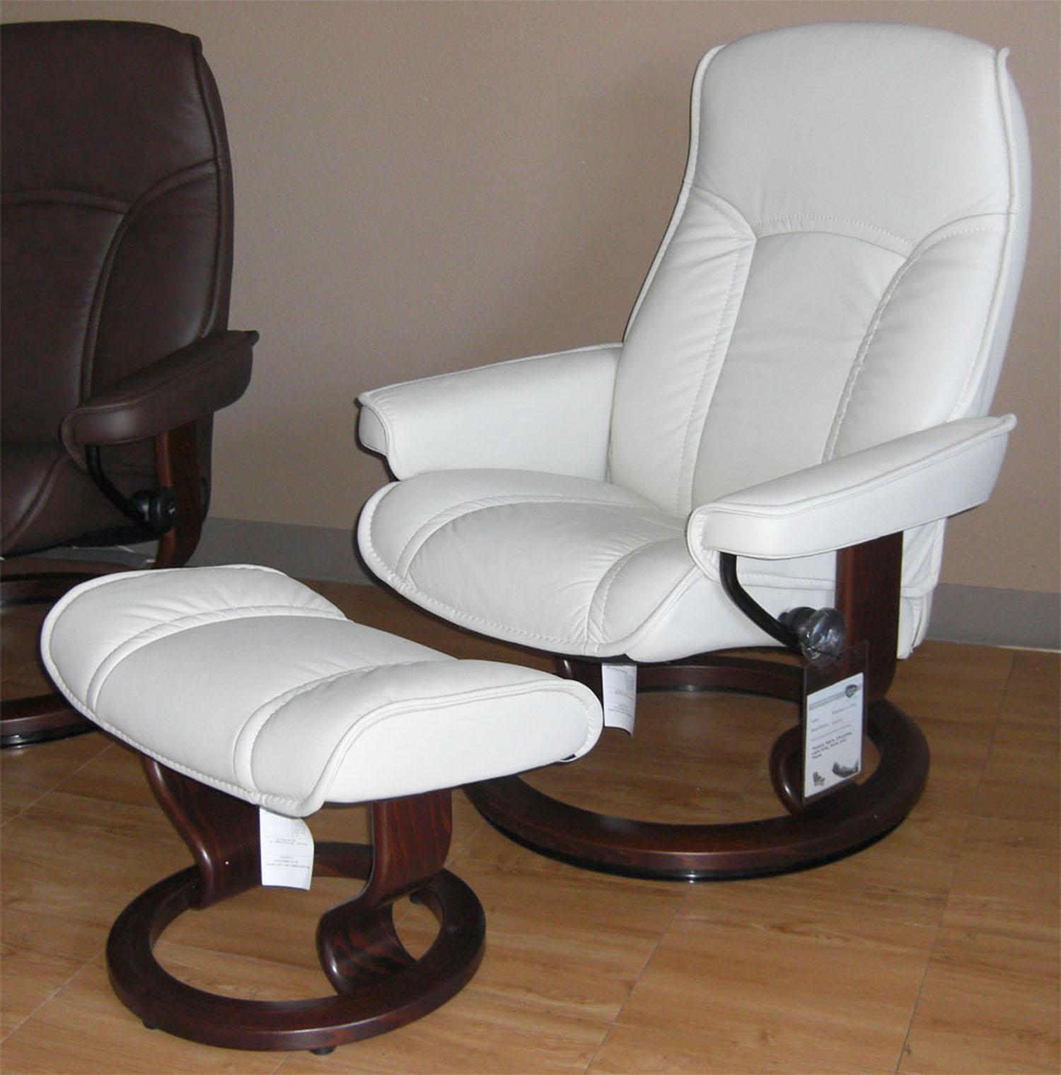grey leather recliner. Stressless Governor Paloma Light Grey Leather Recliner Chair And Ottoman By Ekornes