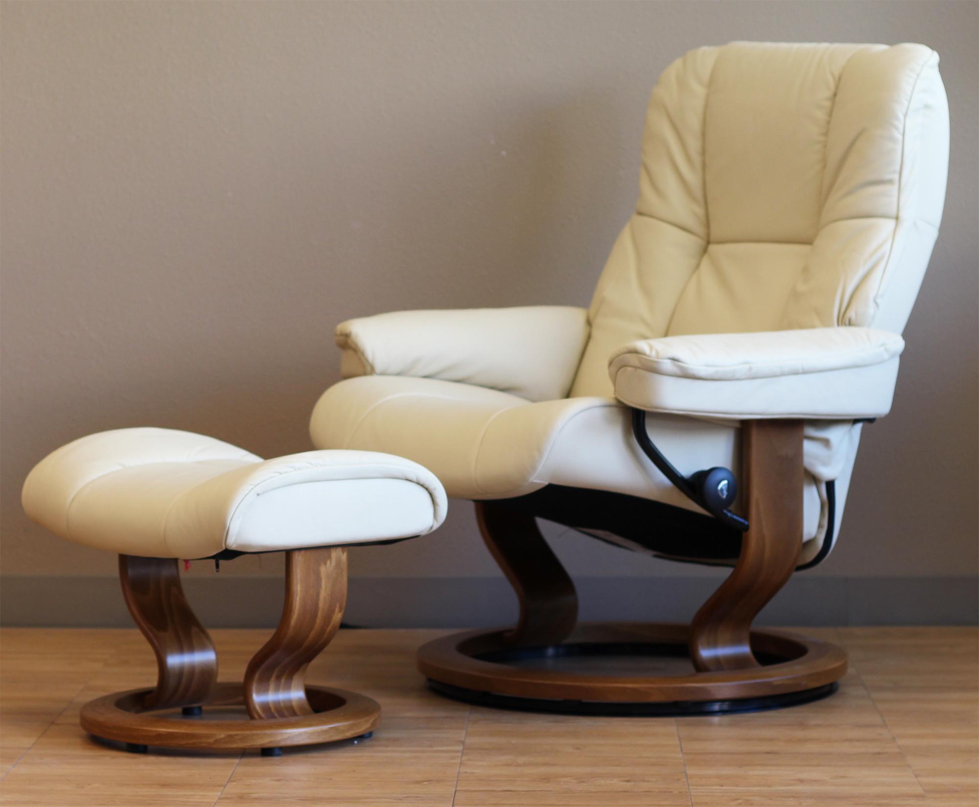 Genial Stressless Mayfair Paloma Kitt Leather Recliner Chair By Ekornes