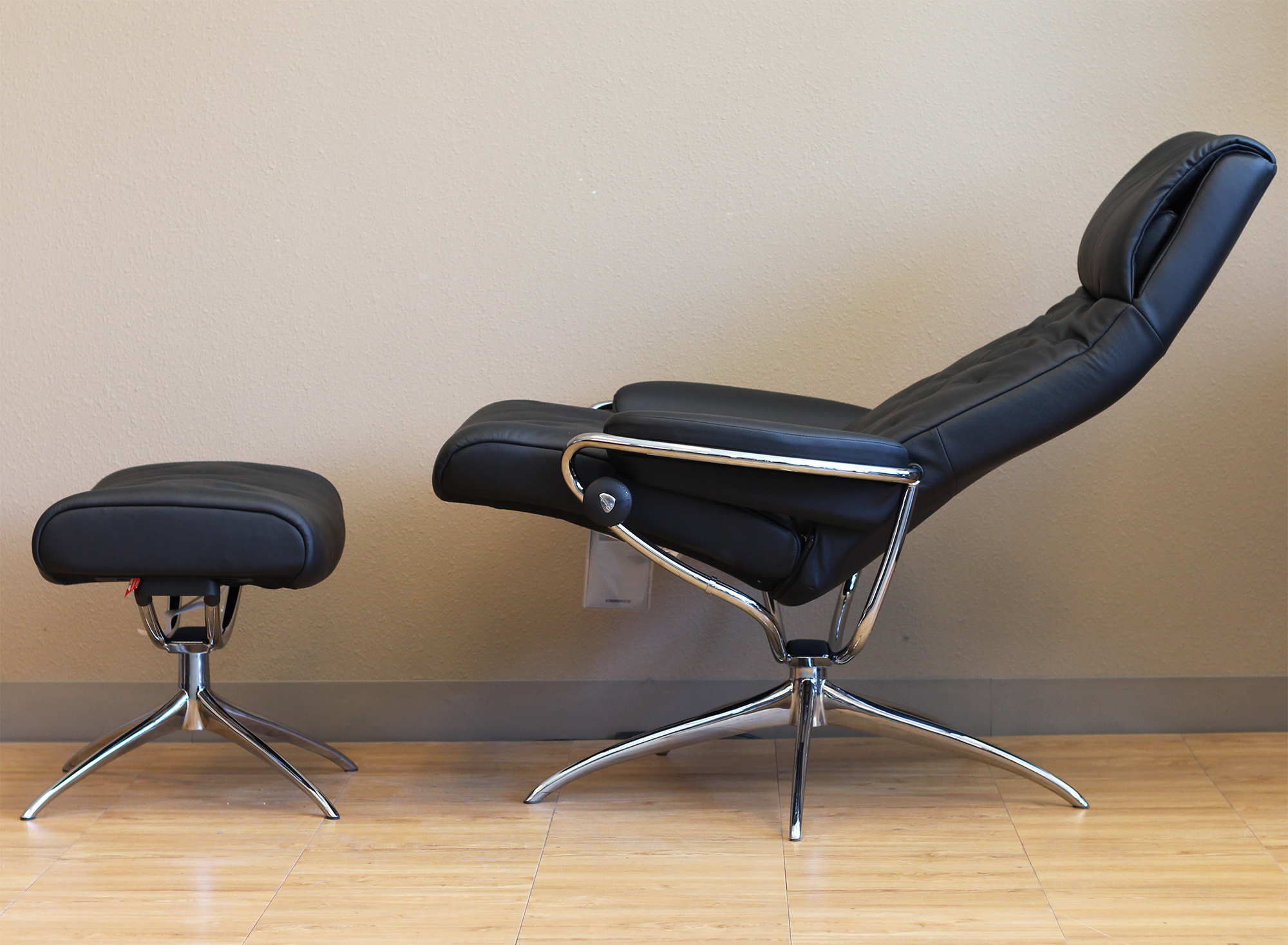 Merveilleux Stressless Metro High Back Paloma Black Leather Recliner Chair By Ekornes