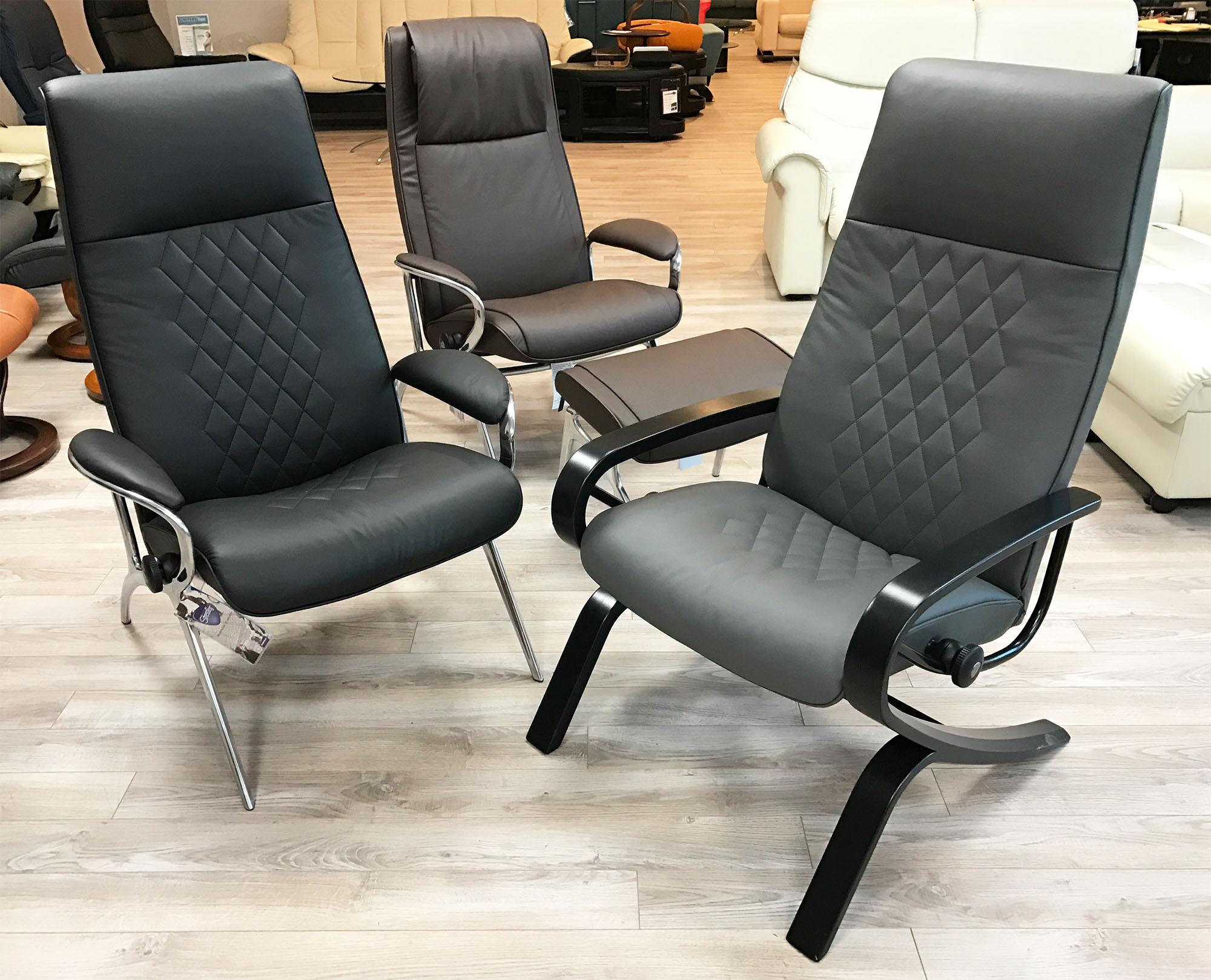 Stressless You James Aluminum Recliner Chair In Batick