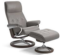 Stressless Sky Recliner Chair and Ottoman - Signature Wood Base