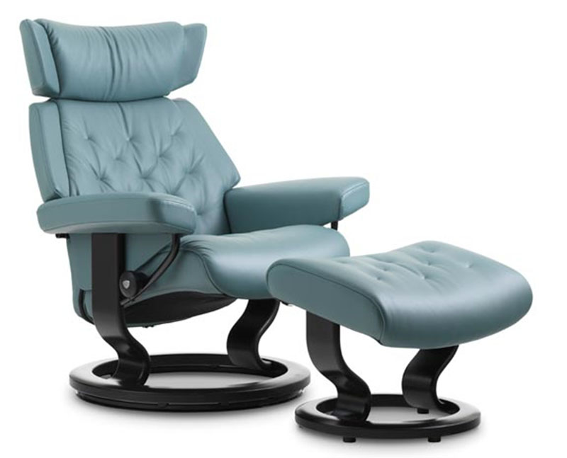 Stressless Skyline Signature Base Recliner Chair And Ottoman