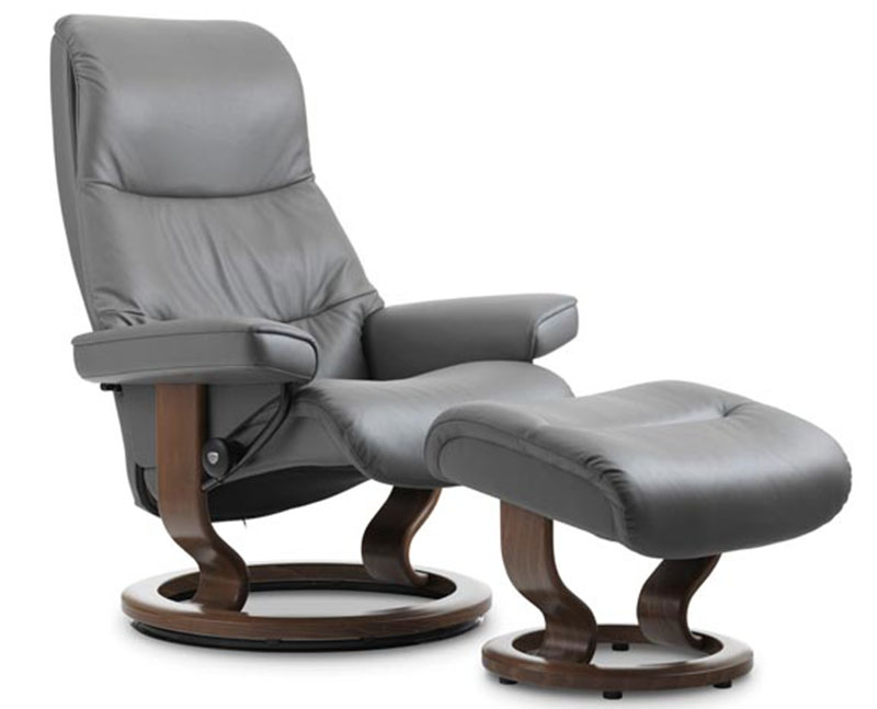 Stressless View Classic Wood Base Recliner Chair