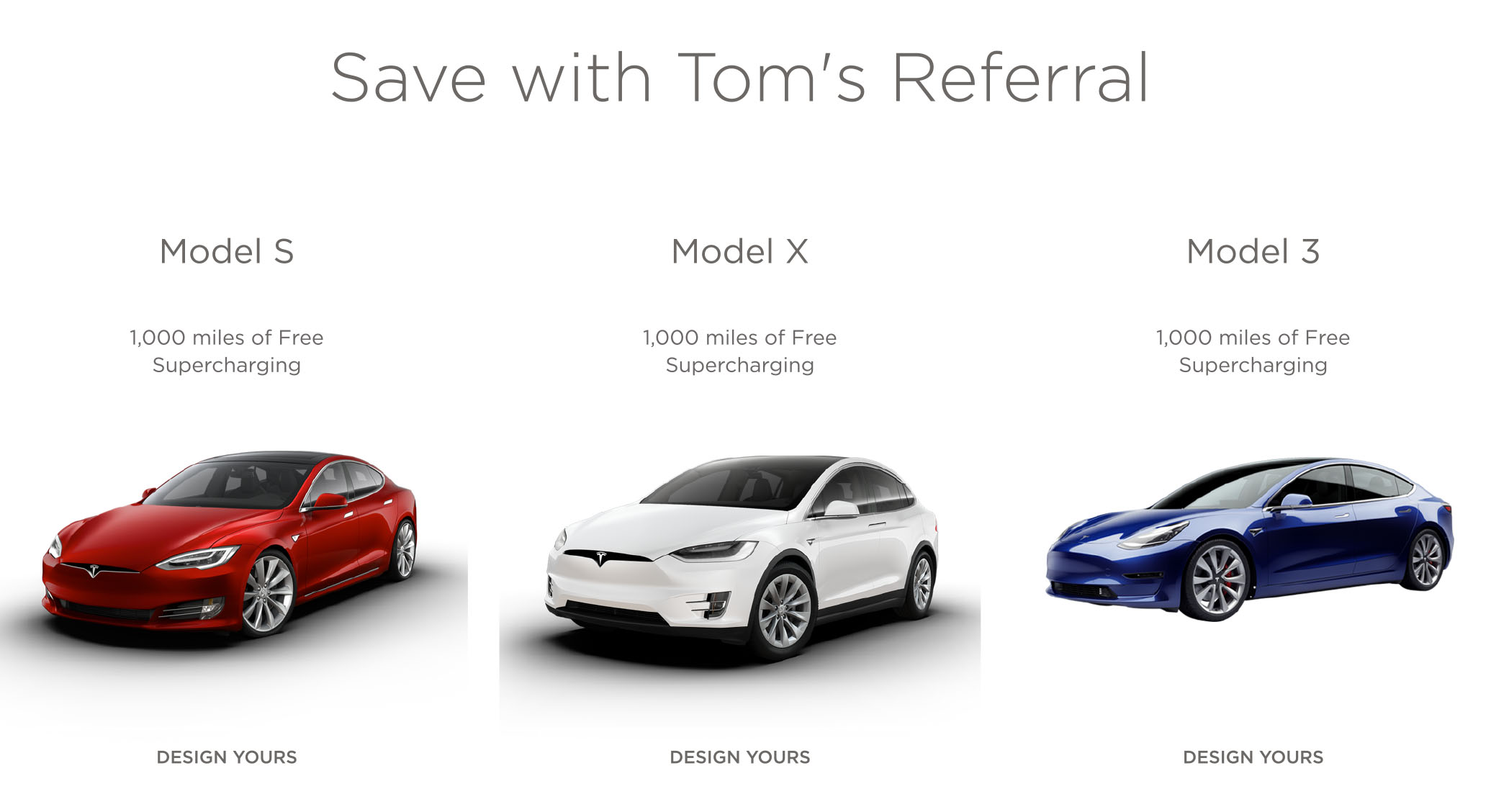 Tesla Model S or X referral Code