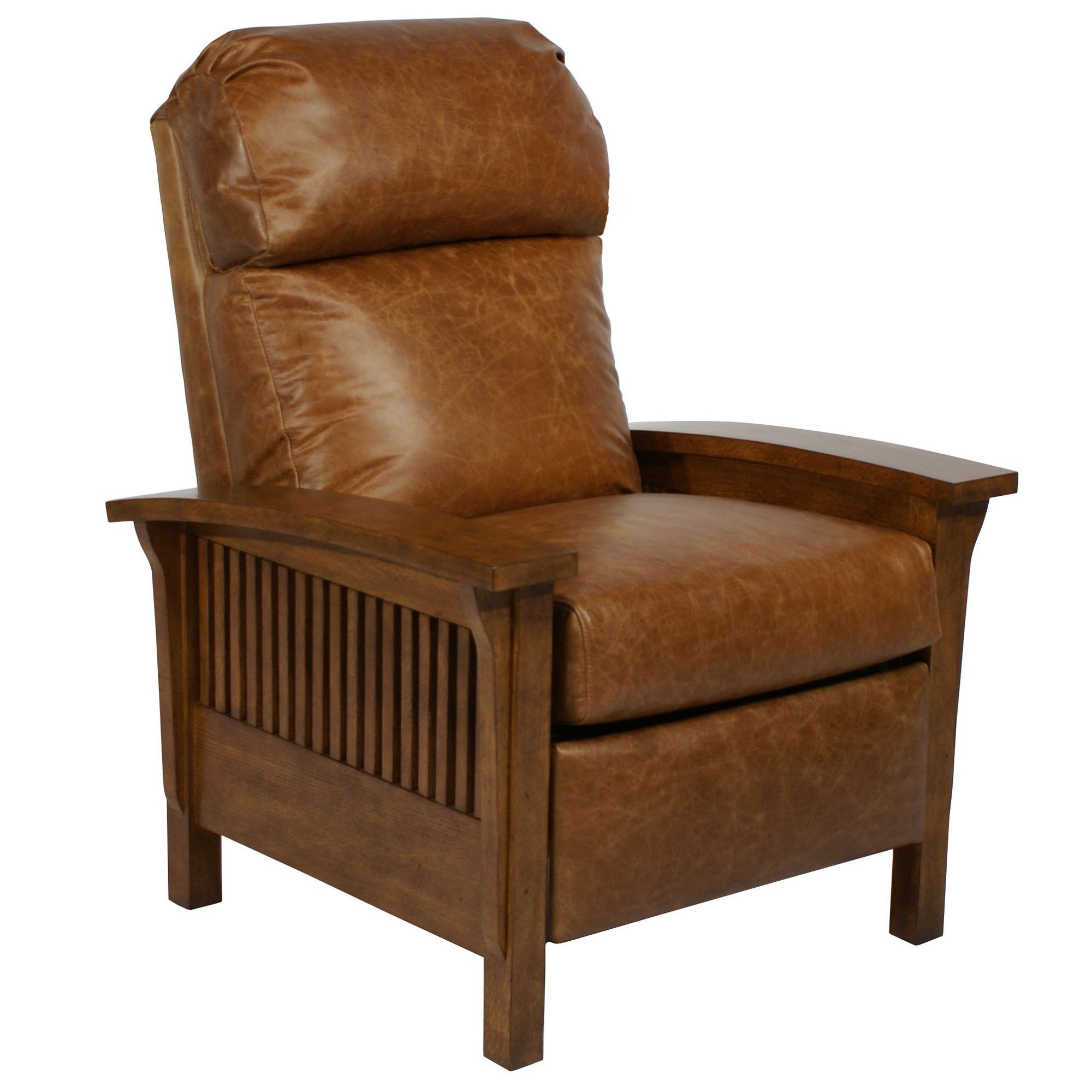 craftsman leather chair barcalounger craftsman ii recliner chair leather 13570 | Barcalounger Craftsman II Chaps%20Saddle