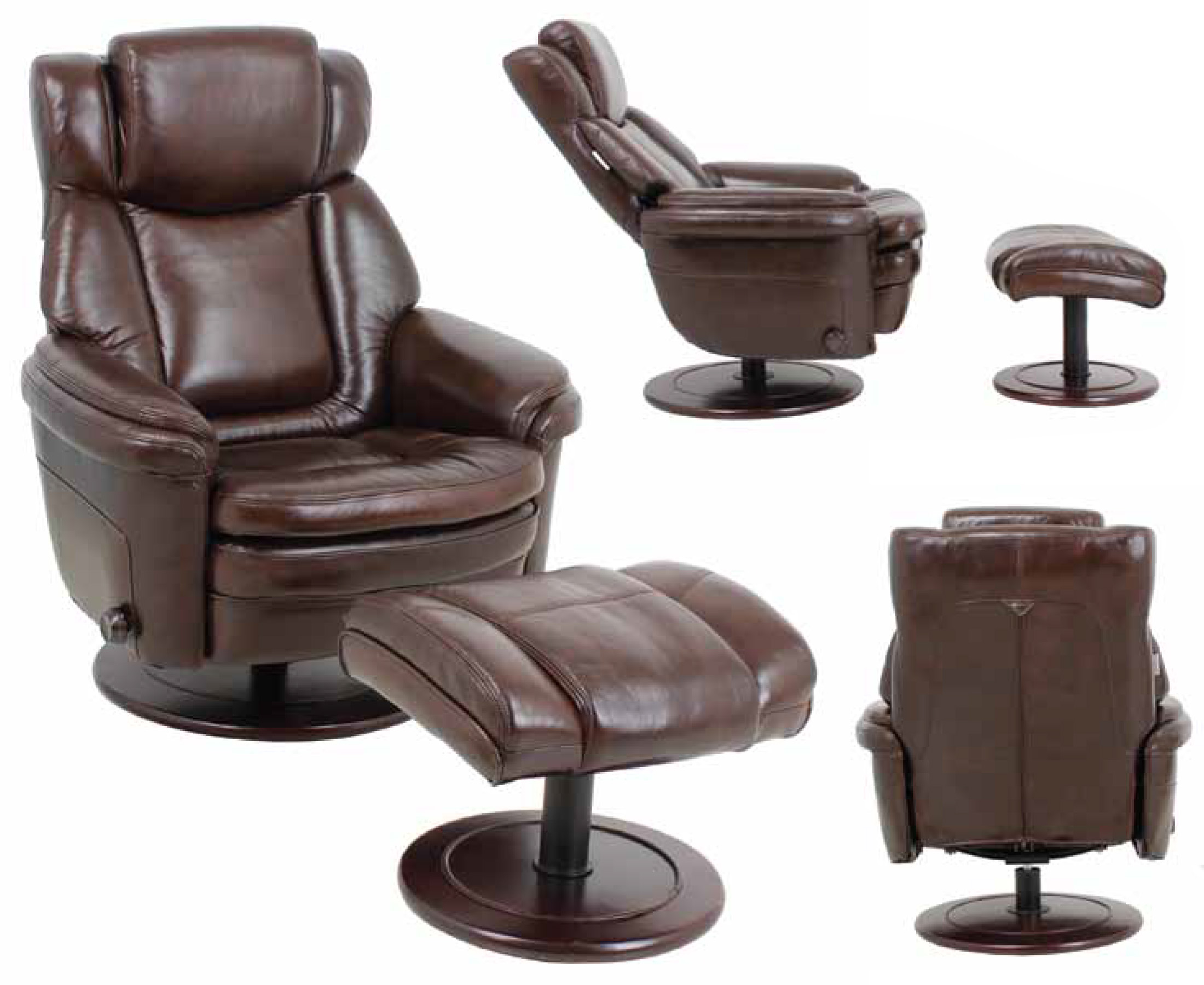 Barcalounger Leather Eclipse II Recliner Chair And Ottoman