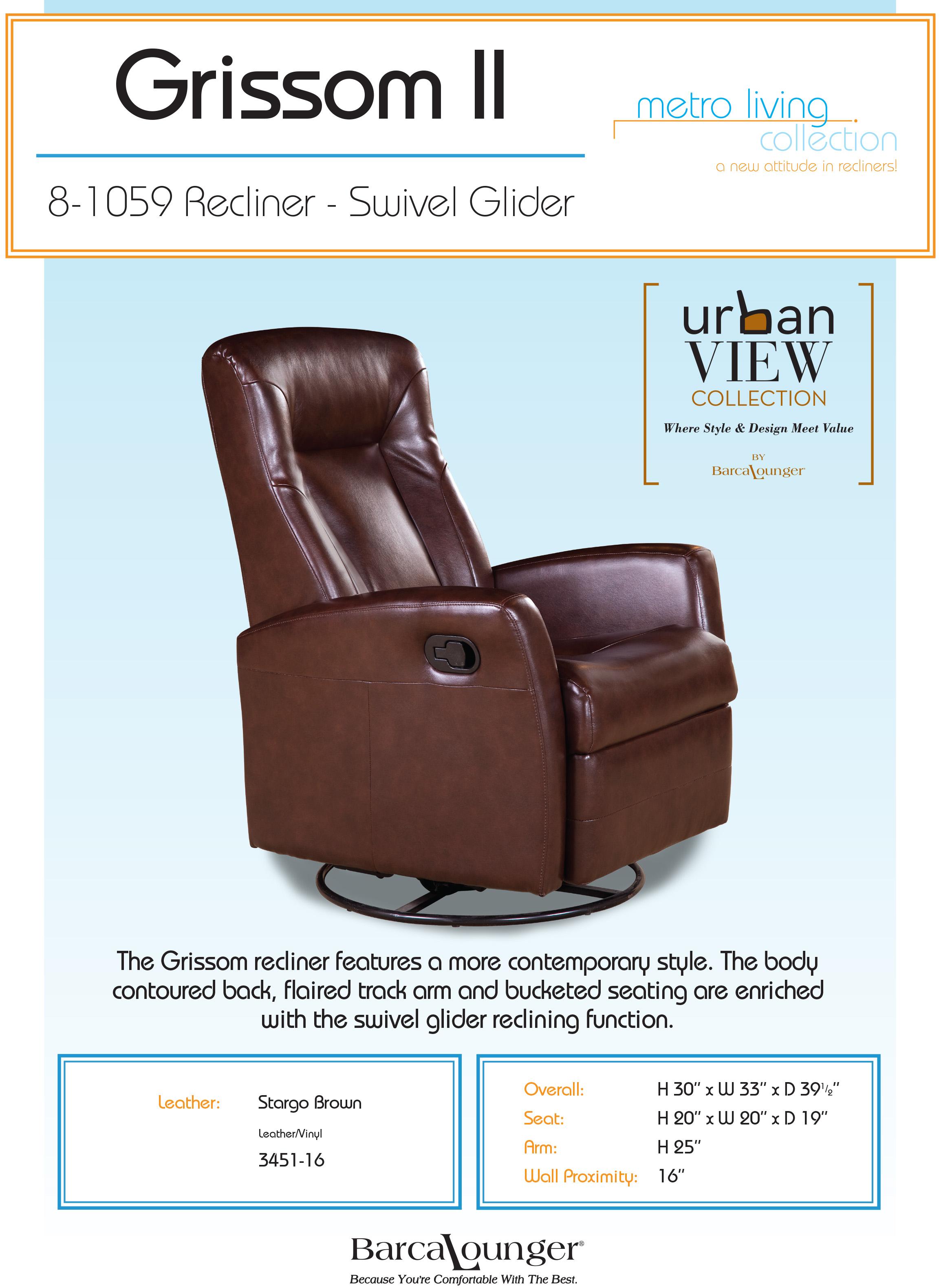 Barcalounger Grissom Ii Swivel Glider Recliner Chair