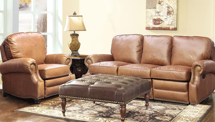 Barcalounger Longhorn Ii Sofa Loveseat Chaps Saddle Top Grain Leather