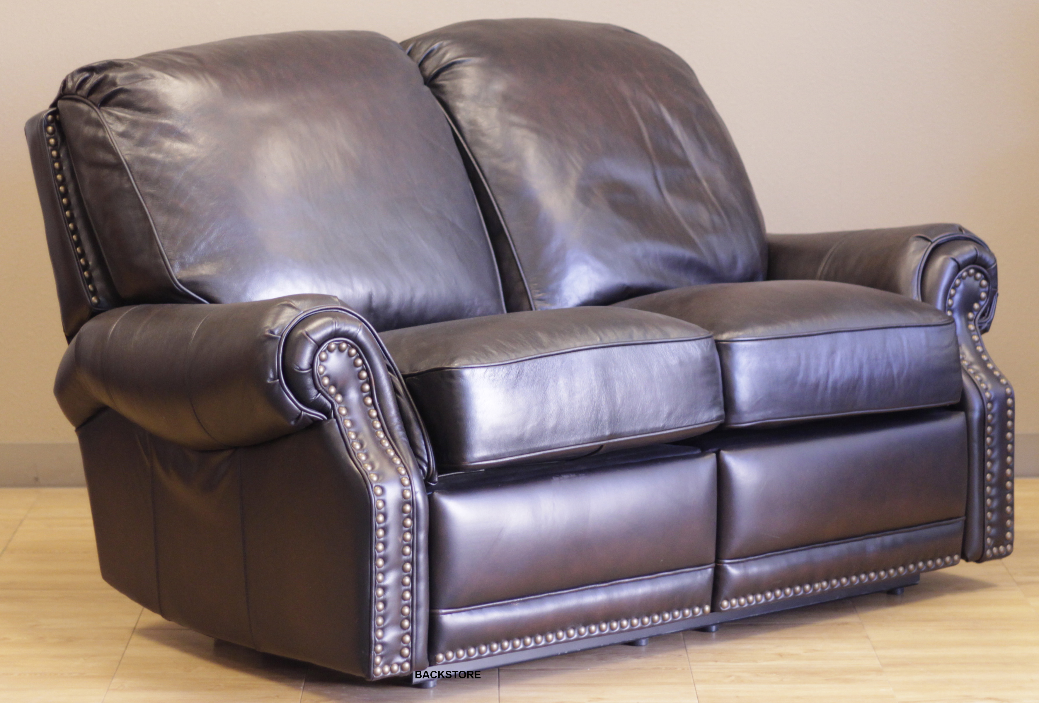 barcalounger premier ii leather 2 seat loveseat sofa. Black Bedroom Furniture Sets. Home Design Ideas