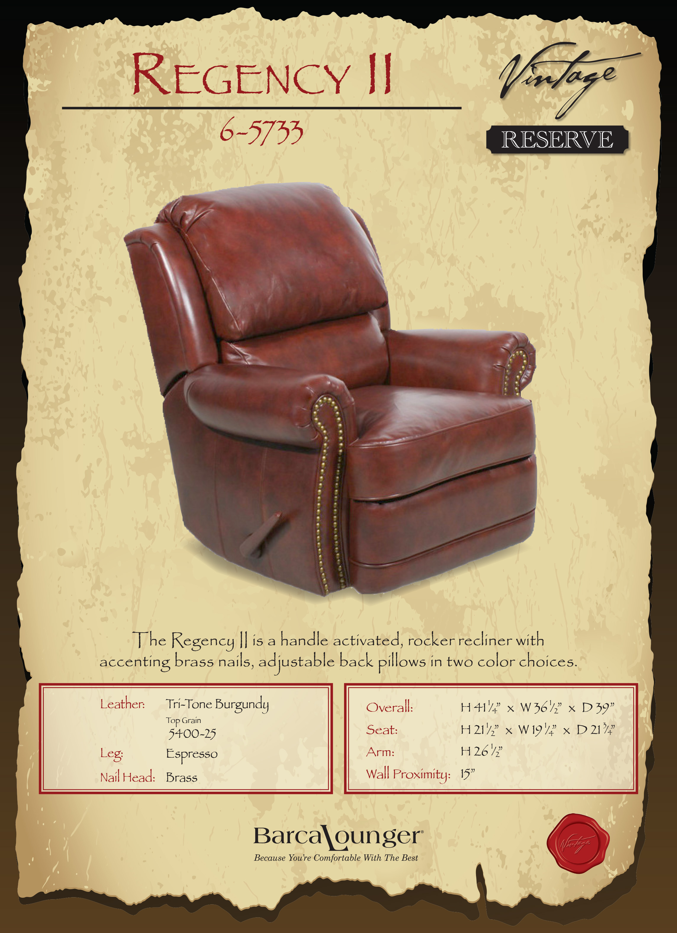 Marvelous Barcalounger Regency Ii Leather Recliner Chair Leather Bralicious Painted Fabric Chair Ideas Braliciousco