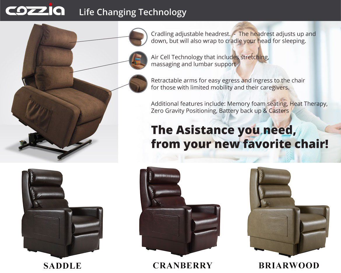 Cozzia MC-520 Lift Chair Recliner  sc 1 st  eBay & Cozzia MC-520 Mobility Lay-Flat Lift Chair Zero Gravity Infinite ...