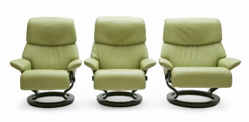 Beau Stressless Paloma Green 09490 Leather Color Recliner Chair And Ottoman From  Ekornes