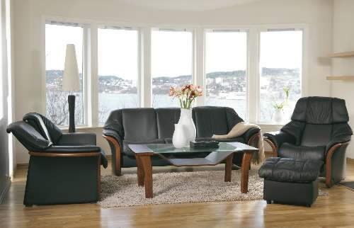 Stressless Eldorado High Back Leather Ergonomic Sofa Couch