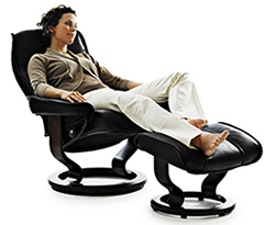 Astonishing Stressless Leather Recliner Chair And Ottoman By Ekornes Ibusinesslaw Wood Chair Design Ideas Ibusinesslaworg