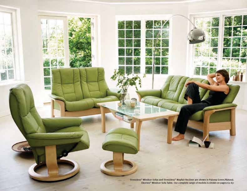 Tremendous Stressless Sofa Loveseat Recliner Chair And Ottoman By Ekornes Ocoug Best Dining Table And Chair Ideas Images Ocougorg