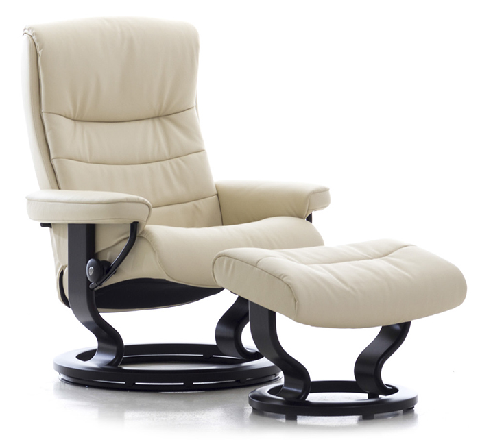 Stressless Nordic Large Recliner Chair And Ottoman By Ekornes