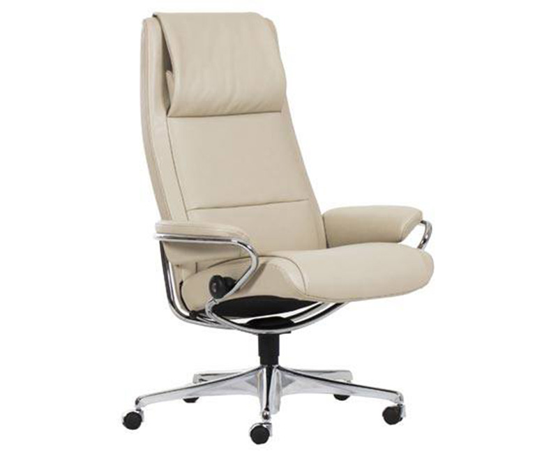 Ekornes Stressless Paris High Back Leather Recliner And