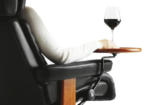 Elegant Stressless Recliner Chair Swing Side Table