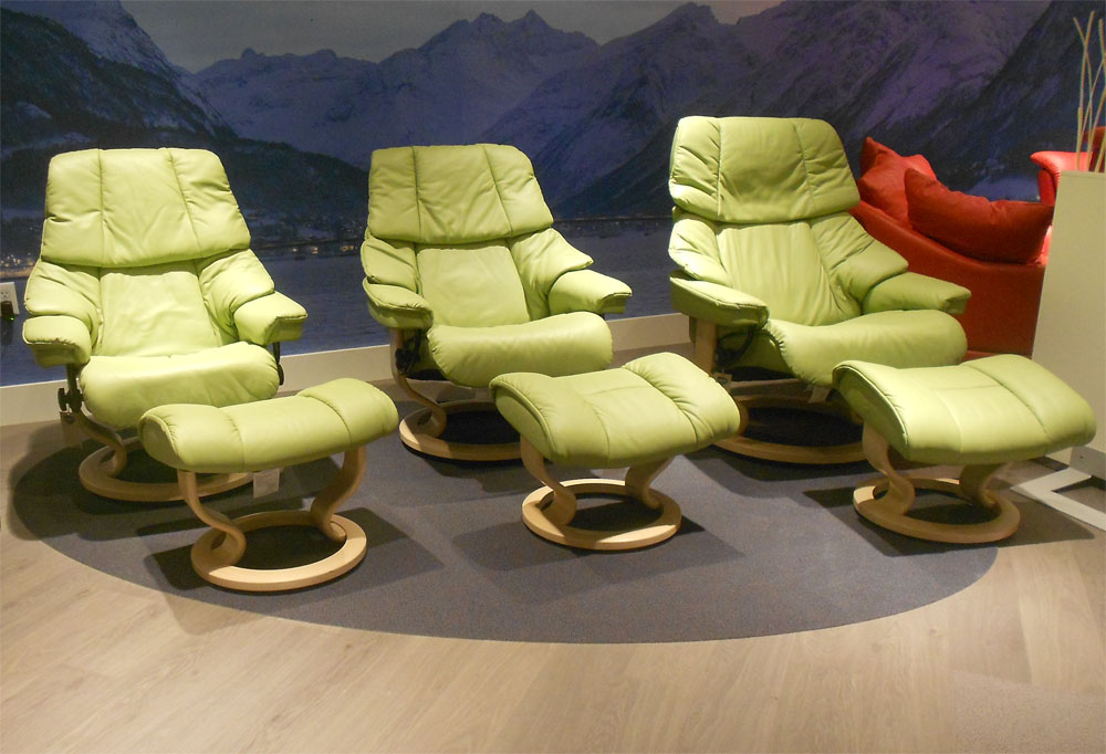 Merveilleux Stressless Vegas Paloma Green 09490 Leather Color Recliner Chair And  Ottoman From Ekornes
