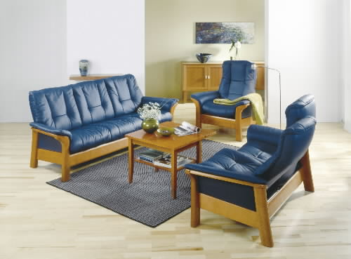 Stressless Royal Chair Paloma Oxford Blue Reclinerleather