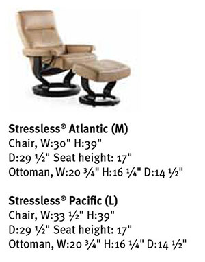 Excellent Stressless Atlantic Leather Recliner Classic Wood Base Chair And Ottoman Creativecarmelina Interior Chair Design Creativecarmelinacom