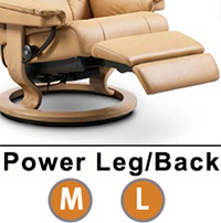 Stressless Consul Classic Dual Power Leg and Foot Wood Base