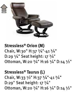 Stressless Taurus Recliner Classic Wood Base Chair and Ottoman