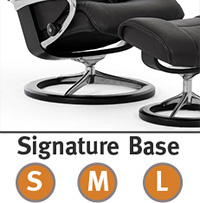 Stressless Signature Steel and Wood Base