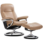 Stressless Garda Signature Steel and Wood Base