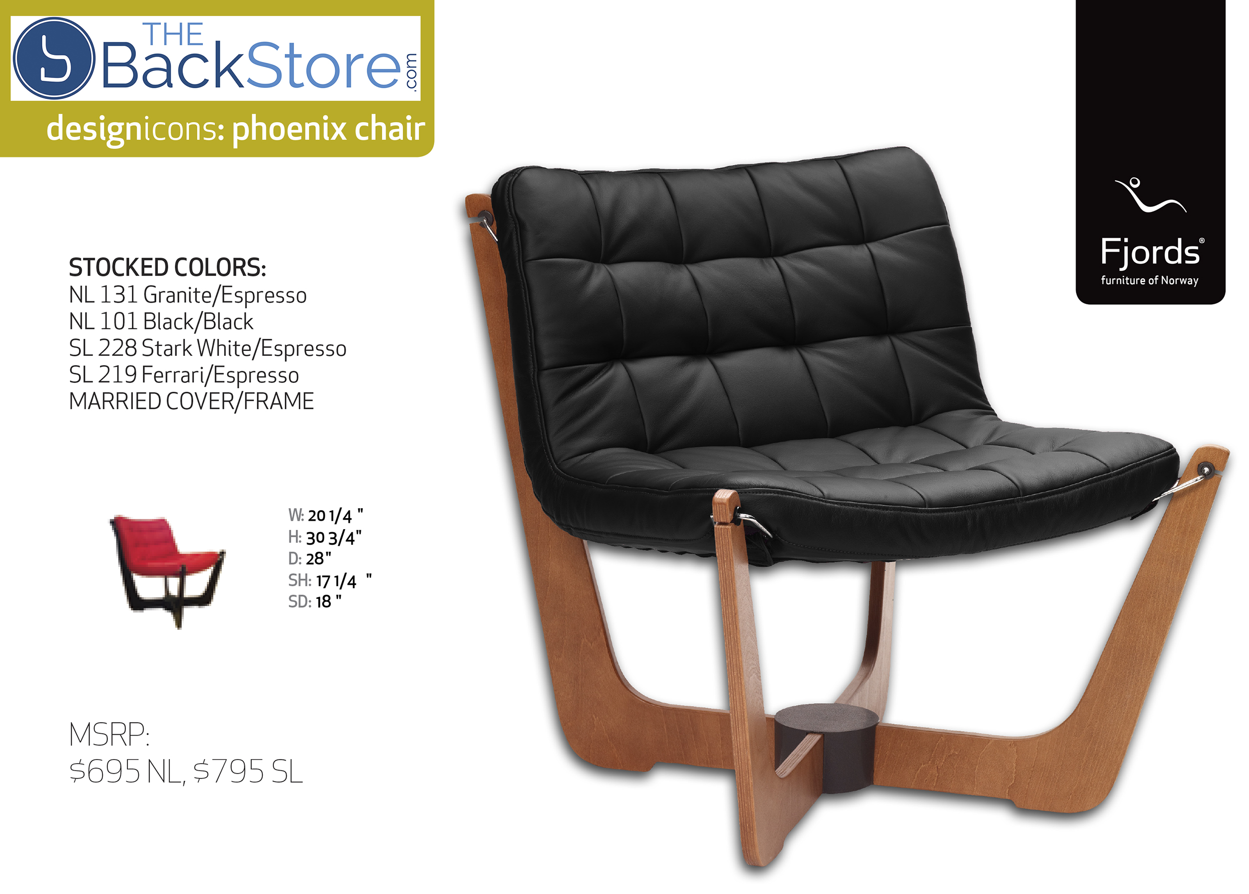 Fjords Phoenix Black Leather Chair by Hjellegjerde. Scandinavian Norwegian Furniture Collection  sc 1 st  Vitalityweb.com & Fjords Hjellegjerde Classics Collection Scandinavian Modern Lounger ...