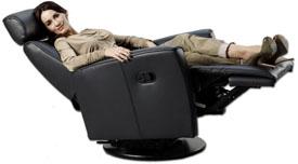 Fjords Atlantis Swing Recliner Chair  sc 1 st  Vitalityweb.com & Fjords Ergonomic Leather Recliner Chair + Ottoman Scandinavian ... islam-shia.org