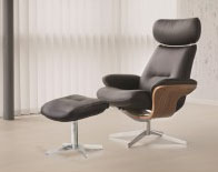 Fjords Riva Recliner Chair and Ottoman Leather & Fjords Hjellegjerde Classics Collection Scandinavian Modern ... islam-shia.org