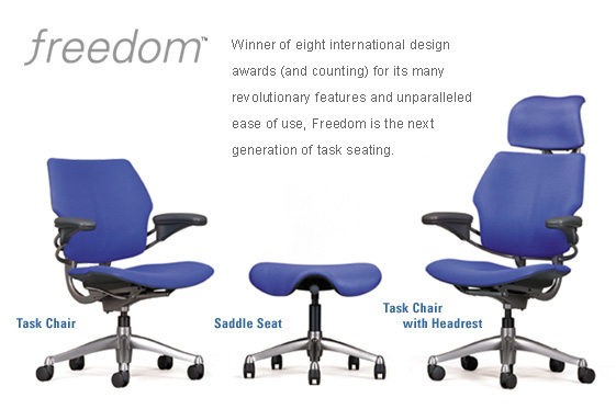 HumanScale Freedom Home Office Chair Ergonomic Seating Freedom