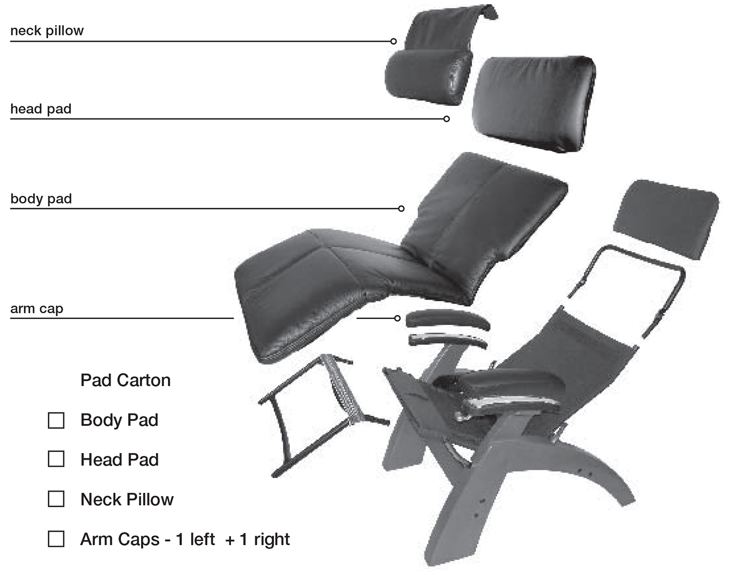 Human touch perfect chair pad set