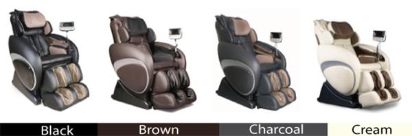 Osaki OS 4000T Executive Zero Gravity Massage Chair Recliner Colors