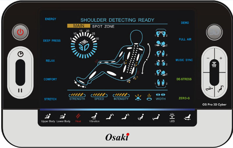 Beau Osaki OS 3D Pro Cyber Zero Gravity Massage Chair Remote