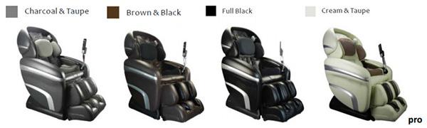 Osaki OS 7200 CR Zero Gravity Massage Chair Recliner Colors
